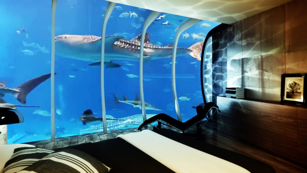 Virtual underwater room